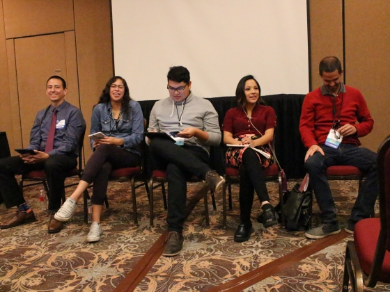 Five American Indian students from Montana State University shared their educational experiences earlier this semester at a national convention that is aimed at advancing educational programs and college and career opportunities of American Indian student | Photo courtesy of Jioanna Carjuzaa.