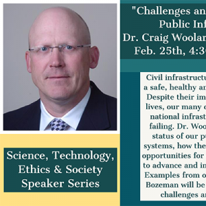 a talk by Dr. Craig Woolard (Civil Engineering) on Tuesday, February 25th at 4:30pm in Barnard 108