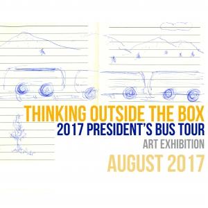 Thinking Outside the Box 2017 President's Bus Tour Art Exhibit