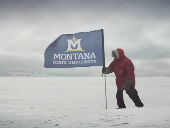 Montana State University graduate students and faculty researchers on an epic journey across Antarctica
