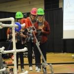 Students at a First Robotics event.