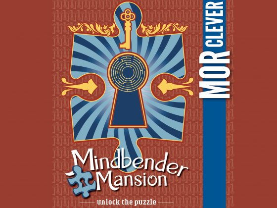 Mindbender Mansion exhibit promo poster photo.