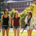 Students Walking on Campus (Admissions)