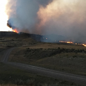 The Lodgepole Complex fire burns in Northeast Montana in July.