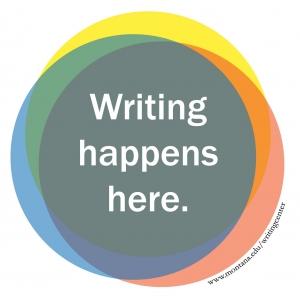 Writing Happens Here.