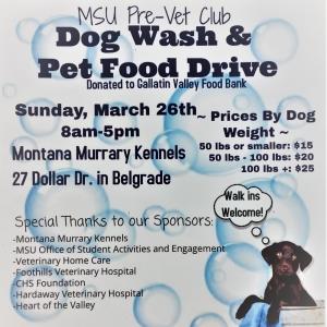 MSU Pre-Vet Club Dog Wash Flier