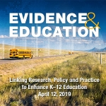 Poster for the Evidence & Education Policy Conference