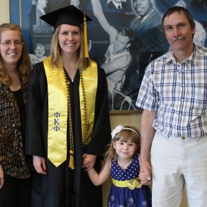 Shanna Stanley of Conrad finished her bachelor's in August through MSU's online liberal studies bachelor's degree completion program. Stanley has a 4-year-old daughter and works full time as a certified nursing assistant. She is pictured with  |
