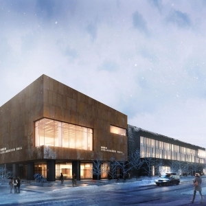 Asbjornsen hall winter exterior |