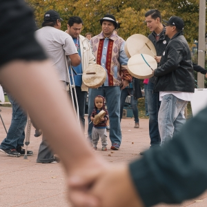 In this file photo from 2016 Montana State University celebrates Indigenous Peoples Day with a round dance on the Centennial Mall at Montana State University in Bozeman, Mont.