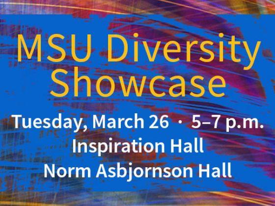 Graphic with text about MSU Diversity Showcase  |