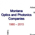 This graph shows optics and photonics companies operating in Montana from 1980-2015. Courtesy of Joe Shaw.