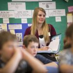 MSU education class at Hyalite Elementary. | Anne Cantrell, MSU News Service