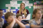 MSU education class at Hyalite Elementary. | MSU photo by Kelly Gorham