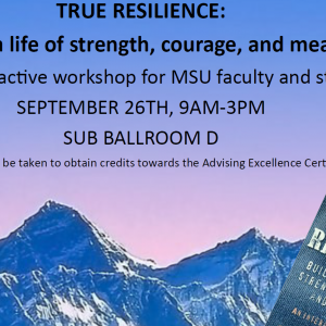 Title of workshop: True Resilience with a copy of the True Resilience Book by Gail Wagnild