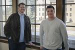 Brian Kassar and Joel Schumacher | MSU photo by Kelly Gorham