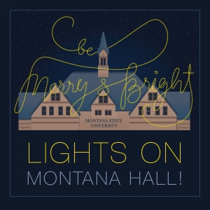 Lights on Montana Hall