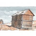 """MSU School of Architecture professor Henry Sorenson has been recognized by the American Society of Architectural Illustrators for an observational illustration, """"Corn Crib,"""" pictured here. Image courtesy of Henry Sorenson."""