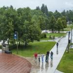 Summer rain dampened the scenery of Montana State University in Bozeman last July.  MSU Photo by Adrian Sanchez-Gonzalez