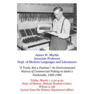 Associate Professor James W. Martin's talk