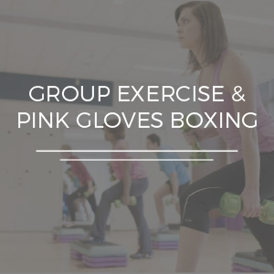 Group Exercise and Pink Gloves Boxing