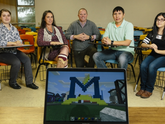Nick Lux Receives Grant for MineCraft Project | MSU Photo by Adrian Sanchez-Gonzalez