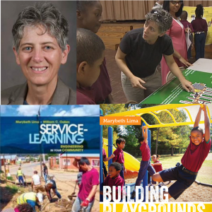 Photo of Marybeth Lima and her service learning activities