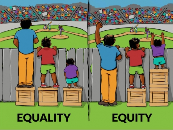 Equality vs. Equity illustration