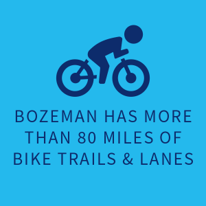 Bozeman has more than 60 miles of bike trails & lanes |
