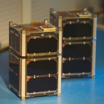 These two satellites -- FIREBIRD 3 and FIREBIRD 4 -- were made by MSU students and their partners at the University of New Hampshire. (Photo courtesy of MSU's Space Science and Engineering Laboratory).