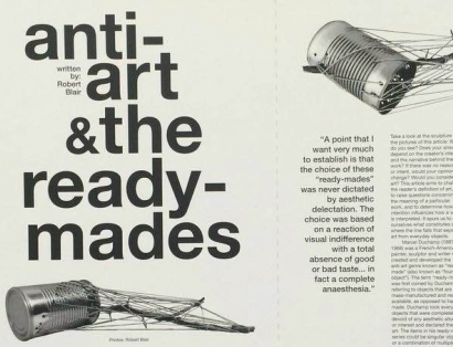 Anti-art and the ready-mades: Example graphic design.