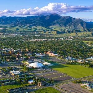 Aerial view of Bozeman, Montana