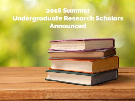 2018 Summer Scholars