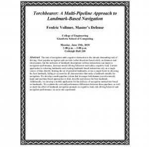 Fredric Vollmer's Master's Defense