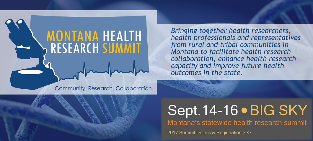 Montana Health Research Summit Banner