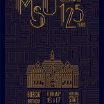 Anna Pierce, an MSU student from Lewiston, Idaho, who won first place in the MSU student category of the 125th anniversary poster contest for her design.