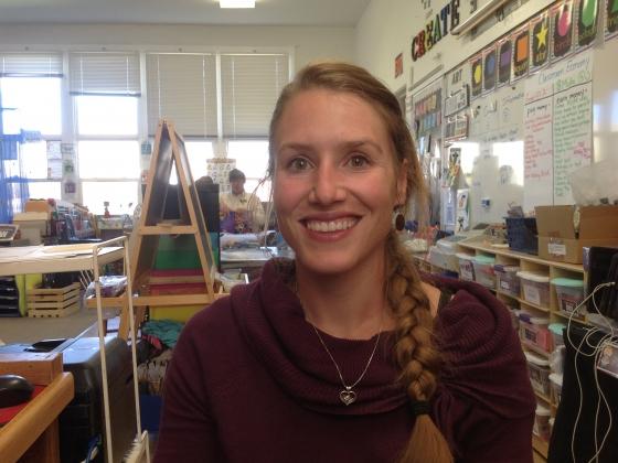 Portrait of Kristi Knaub Borge in a classroom |