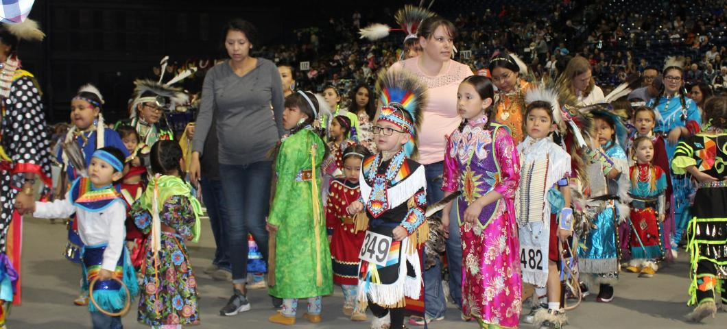 Tiny Tot Dancers at Pow Wow