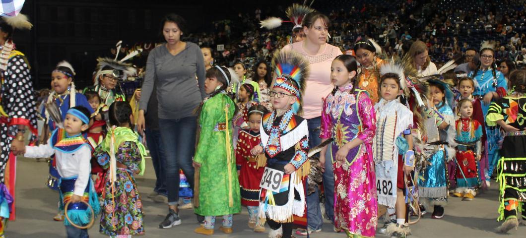 Tiny Tot Dancers at Pow Wow