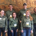 Members of MSU's Plant Identification team who took eighth place at the annual Society for Range Management meeting in St. George, Utah, earlier this year are from left, back: Noah Davis, Michael Hamel and Kegen Benson. From left, front: Tori Chulyak, Loni Blackman and Jessica Hickel. Photo courtesy Craig Carr.