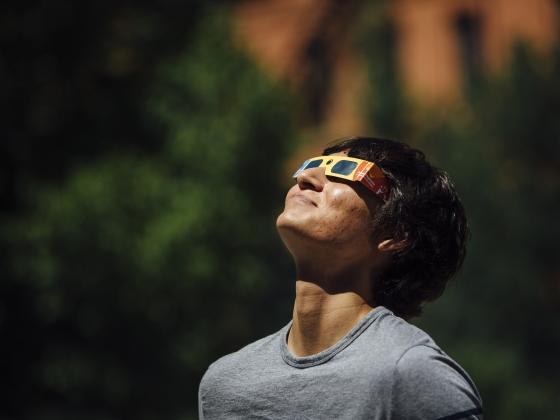 Eclipse Glasses | MSU Photo by Adrian Sanchez-Gonzalez