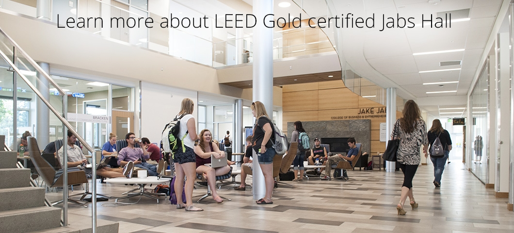 Learn more about LEED Gold certified Jabs Hall