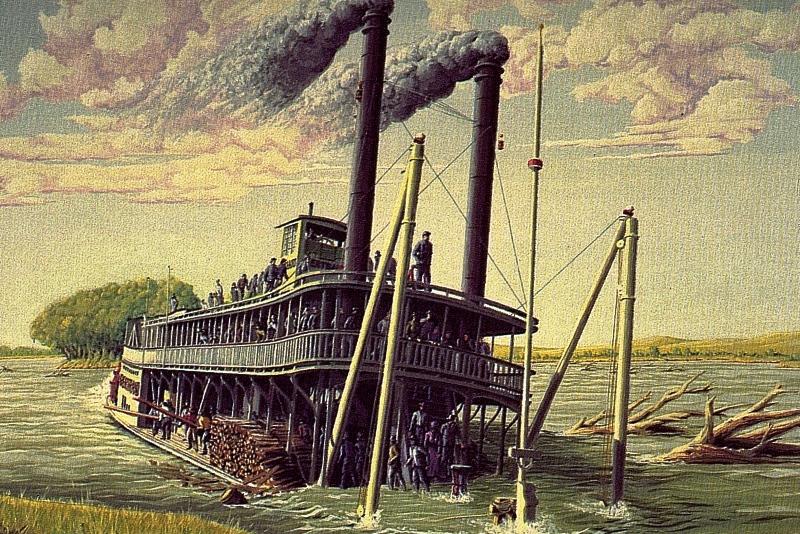 the steamboat bertrand and the montana and idaho transportation company  1865 with ronald