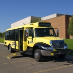 Streamline bus with ramp