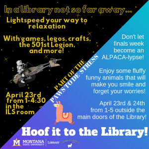 Image of Star Wars Relaxation Day and Hoof it to the Library