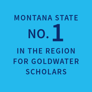 Montana State no. 1 in the region for Goldwater Scholars |