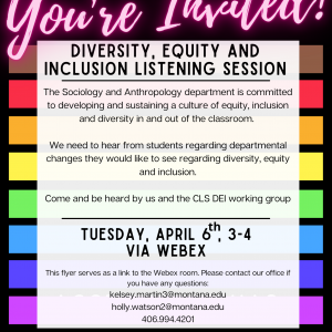Diversity, Equity and Inclusion Listening session flyer