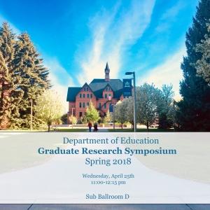 Graduate Research Symposium Invite