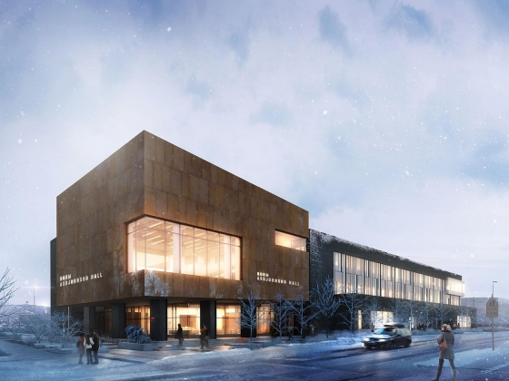 rendering of Norm Asbjornson Hall