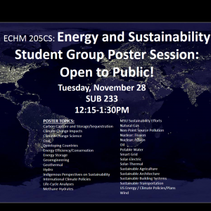 Energy and Sustainability Poster Session